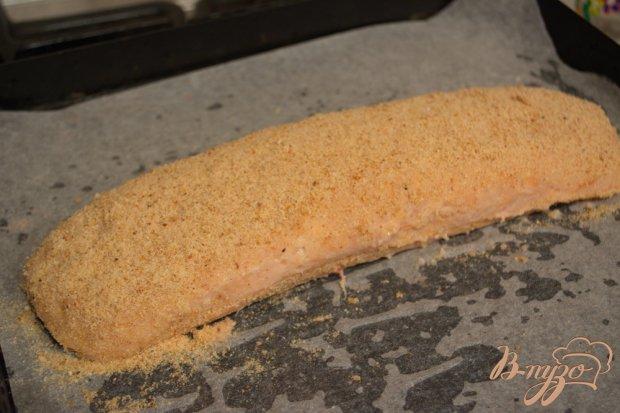 Куриный рулет с омлетом в духовке