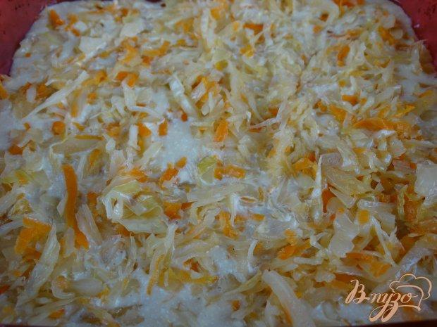 Наливной пирог с кислой капустой и сыром