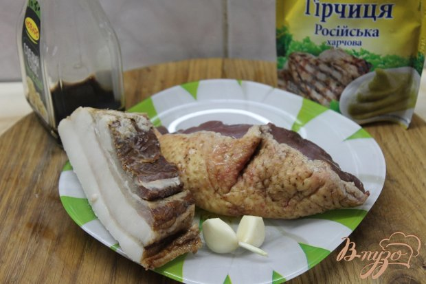 Утиное филе в беконе