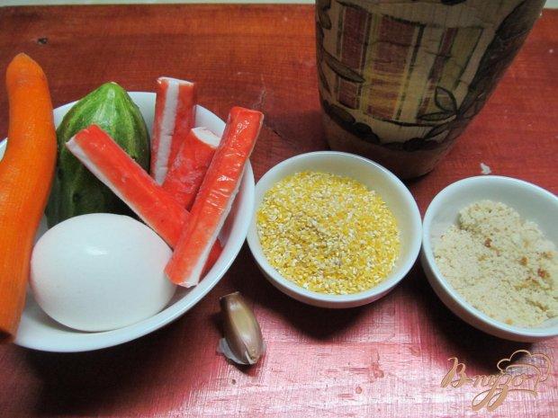 Котлеты из крабовых палочек с овощами