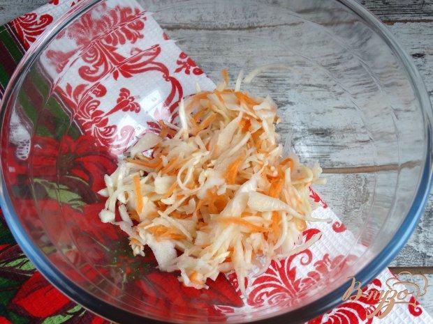 Рецепт Винегрет с жареными шампиньонами и квашеной капустой