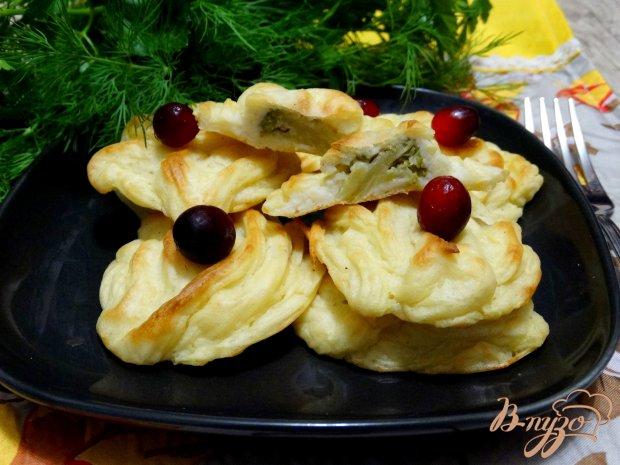 Картофельные розочки с брокколи