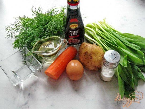 Рецепт Салат с черемшой, яйцом и картофелем