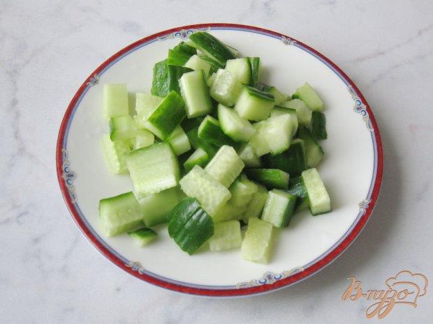 Салат с черемшой, яйцом и картофелем