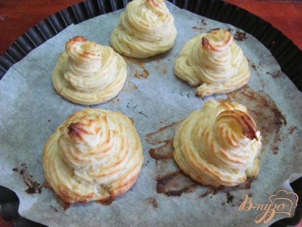 Картофельные пирамидки с грибами.