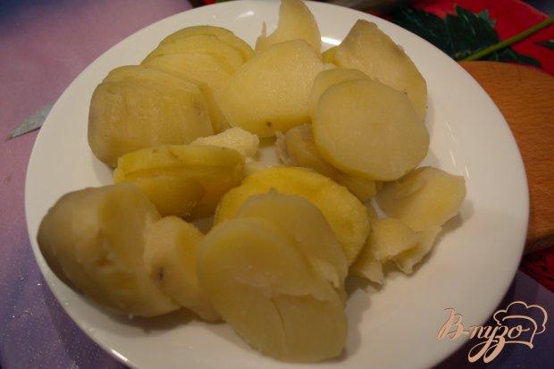 Куриная печень тушеная с картофелем