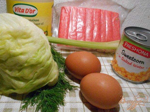 Рецепт Салат с крабовыми палочками и сельдереем