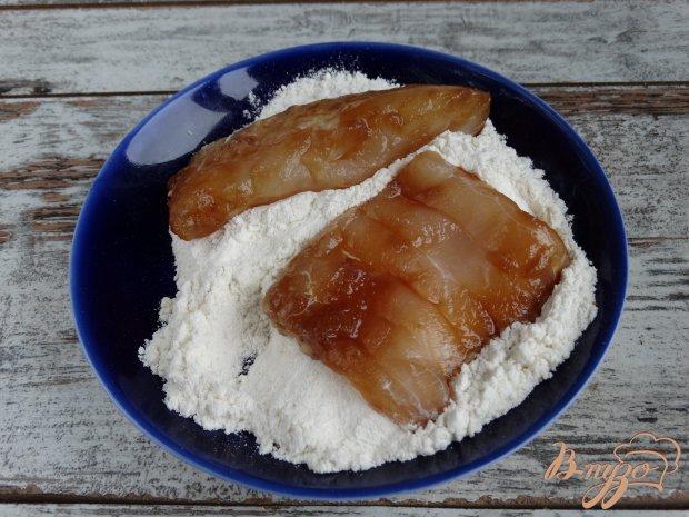Жареная треска в горчично-соевом маринаде