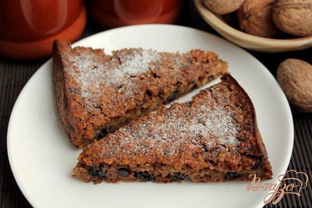Овсяный пирог с орехами