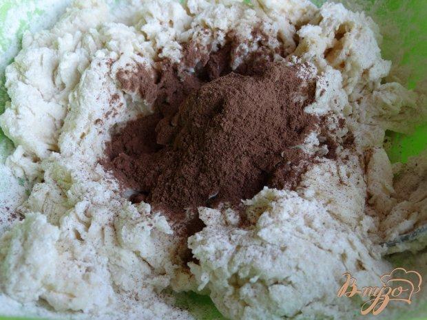 Мягкое шоколадное печенье с мармеладом