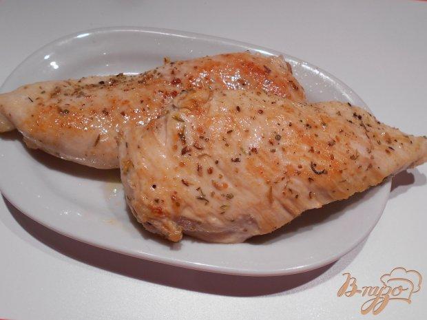 Запеченое куриное филе в сливочно-чесночном соусе с тыквой