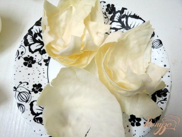 Шницель из капусты с грибной подливой