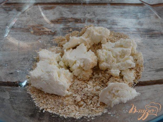 Творожно-овсяное печенье с яблоком