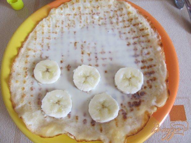 Блинчики с бананами и сгущенкой