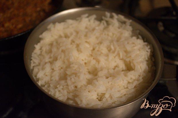Детская запеканка с рисом и фаршем
