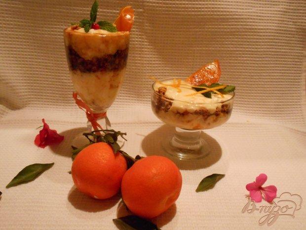 Десерт с хурмой и апельсином