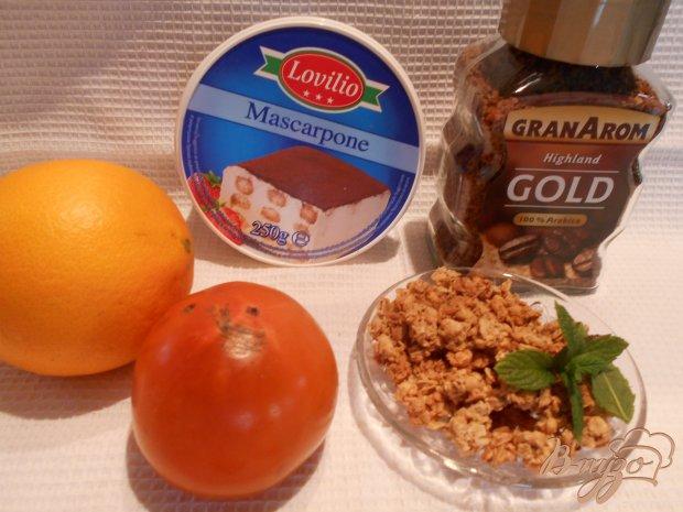 Рецепт Десерт с хурмой и апельсином
