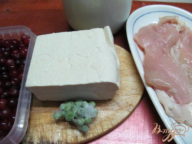 Рецепт Куриная грудка фаршированная брынзой и клюквой