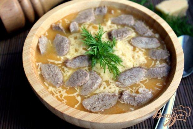 Крем-суп с бужениной и сыром