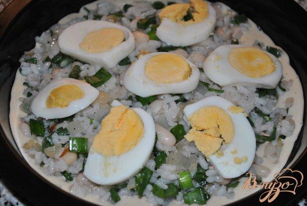 Пирог с рисом и фасолью