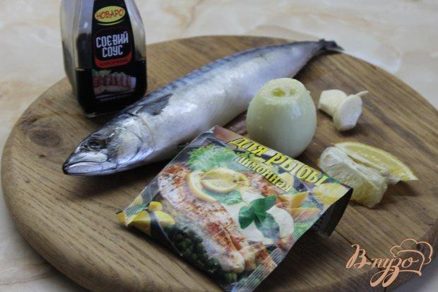 Запеченная рыбка со специями в соевом соусе