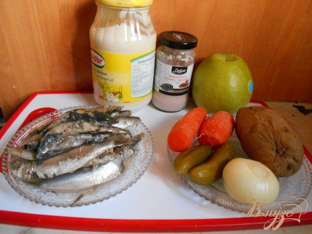 Рецепт Русский салат с килькой