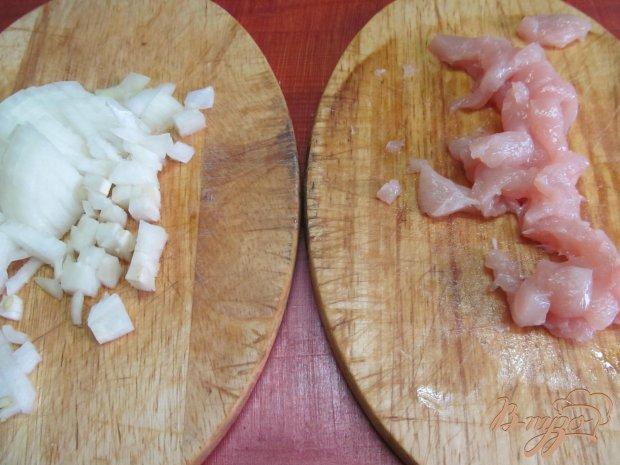 Фритатта с куриным мясом и соевым соусом