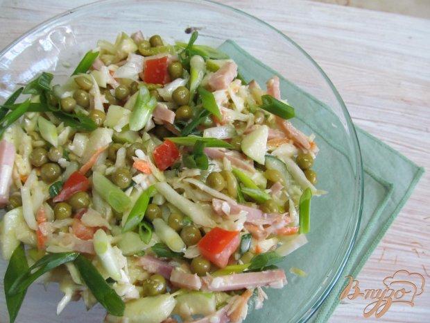 Салат из капусты ветчины помидор