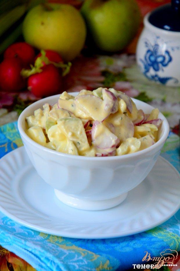 Весенний салат из редиски