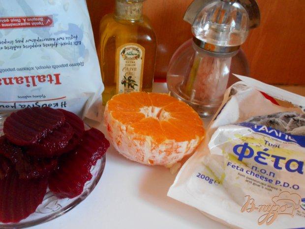Рецепт Салат из свеклы с сыром фета и апельсиновой заправкой