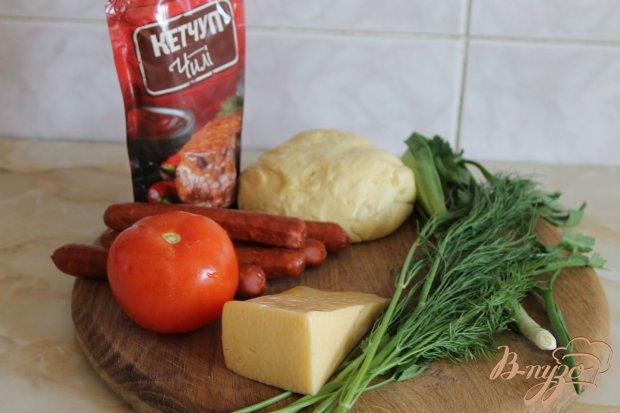Рецепт Пицца с охотничьими колбасками и острым соусом