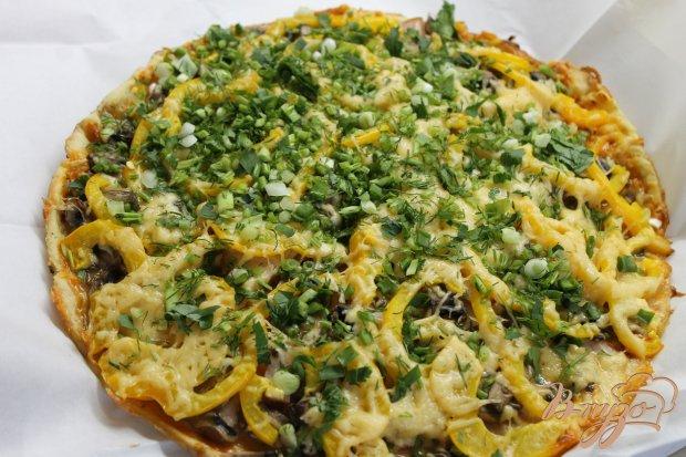 Пицца с свиным балыком и жёлтым болгарским перцем