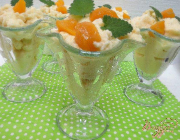 Мусс из персикового пюре