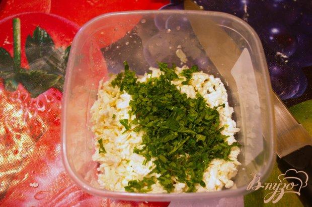 Кавказские лепешки с творогом и  зеленью