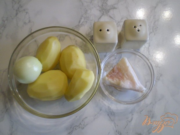 Картошка с луком на сале