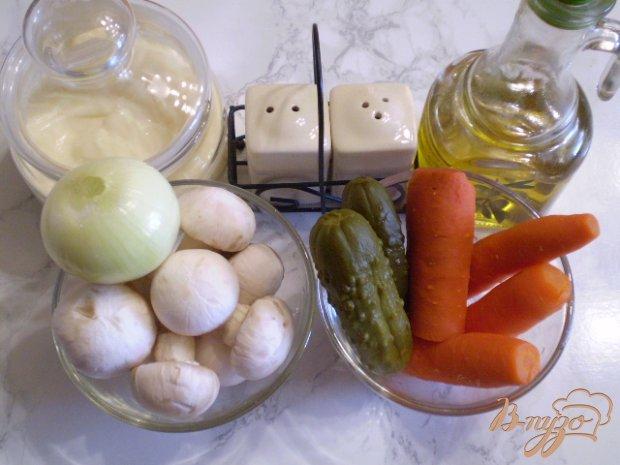 Рецепт Овощной салат с шампиньонами