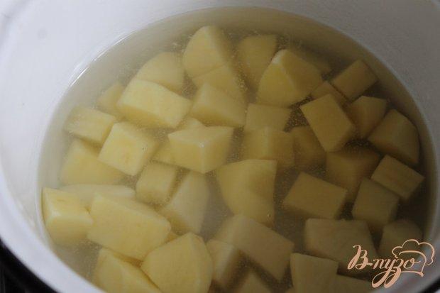 Рецепт Картофельное пюре с подливой из морепродуктов