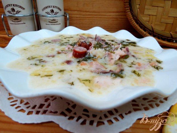 Суп сливочный с копчёностями