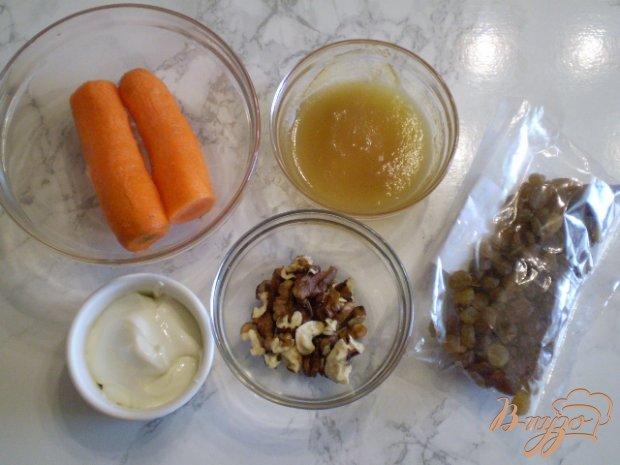 Сладкий морковный салат с изюмом и орехами
