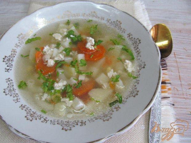 Суп с яйцом и брынзой