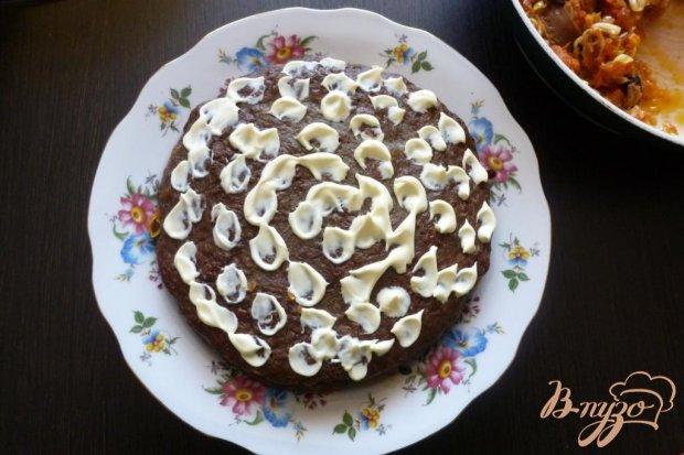 Закусочный торт из куриной печени