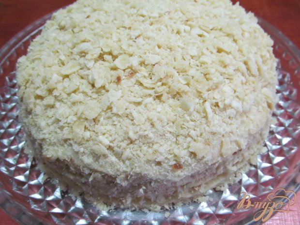 Торт на сковороде с творожной начинкой