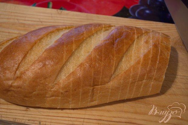 Рецепт Запеченый батон с сыром и зеленью