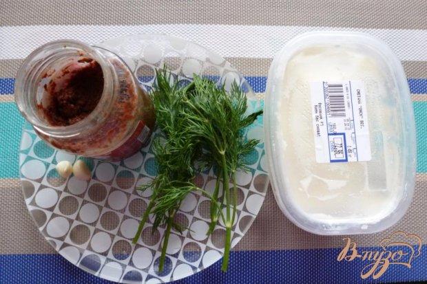 Рецепт Соус к мясу из сметаны,аджики и чеснока