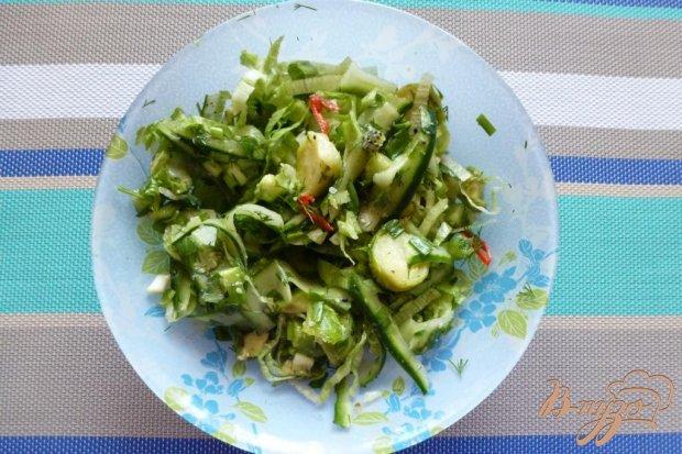 """Салат """"Зеленый"""" с кунжутным маслом"""