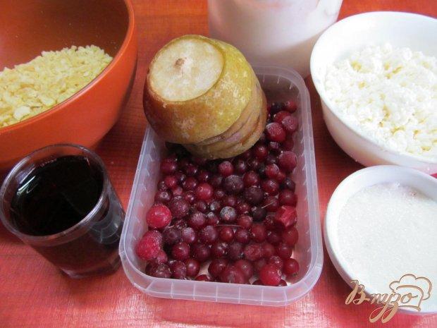 Десерт из творога клюквы и печенья
