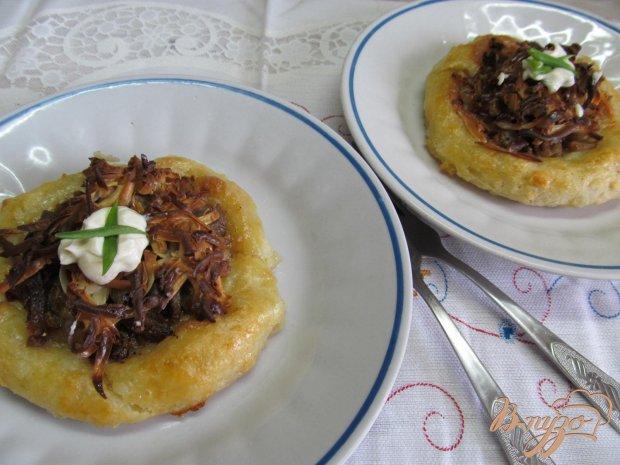 Картофельные ватрушки с мясом
