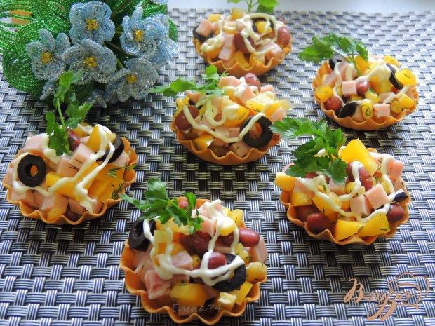 Тарталетки с салатом