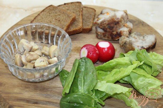 Рецепт Бутерброды праздничные с бужениной и овощами