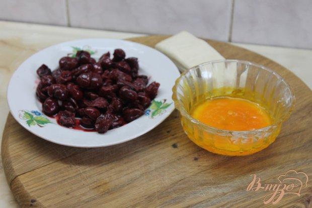 Рецепт Слойка с вишней и шоколадом